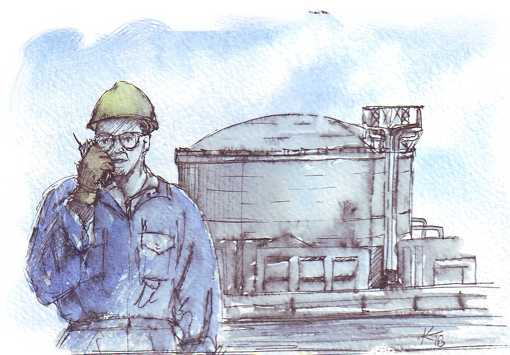 Person at an industrial site